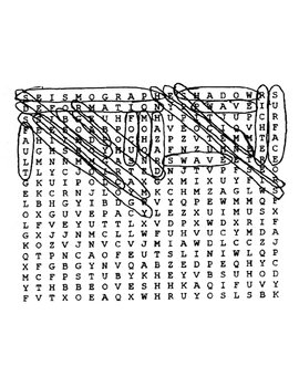 Earthquakes Wordsearch with Key
