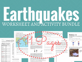 Earthquakes Worksheet and Activity Bundle