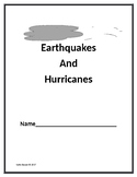 Earthquakes and Hurricanes- 5th grade ELA Module 4: Unit 1