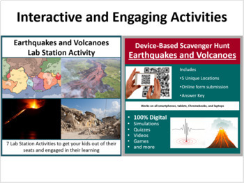Earthquakes and Volcanoes - 5E Lesson Bundle