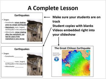 Earthquakes and Volcanoes - 5E Lesson Bundle