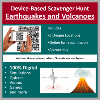 Earthquakes and Volcanoes – A Digital Scavenger Hunt Activity