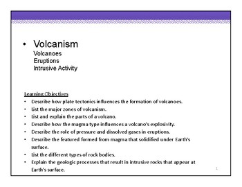 Earthquakes and Volcanoes - HS Earth Science - Entire Unit