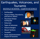 Earthquakes and Volcanoes - PowerPoint Lesson and Student Notes