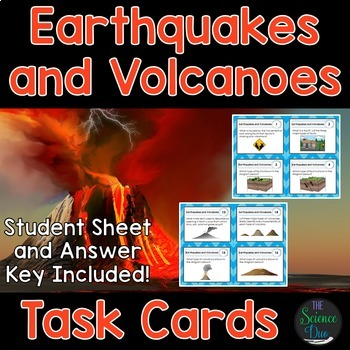 Earthquakes and Volcanoes Task Cards - Distance Learning Compatible