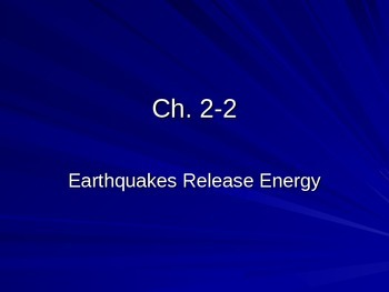 Earthquakes and its energy
