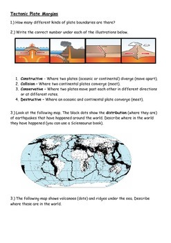 Earthquakes and volcano