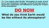 Earths' Atmosphere