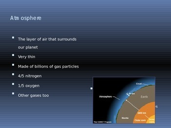 Earth's Atmosphere PowerPoint presentation