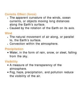 Earths Atmosphere Unit Vocabulary Lesson Plan by Lisa Michalek | TpT