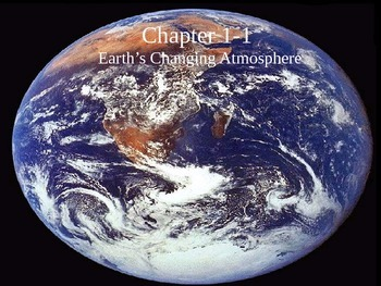 Earth's Changing Atmosphere Cloze Format