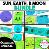 Earth Cycles Rotation, Revolution, Tides, Moon Phases Interactive Notebook
