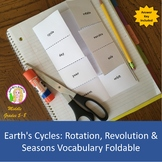 Earth's Cycles: Rotation, Revolution & Seasons Vocabulary Foldable