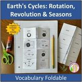 Earth's Cycles: Rotation, Revolution & Seasons Vocabulary Foldable