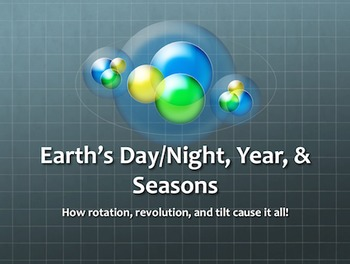 Earth's Day/Night, Year, & Seasons-How Rotation, Revolution, & Tilt Cause It All