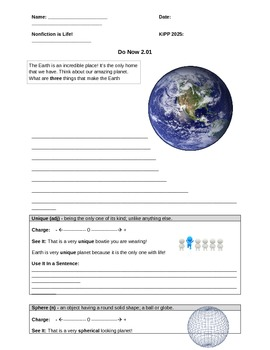 Earth's Distance From the Sun Worksheet