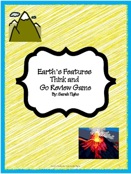 Earth's Features Think and Go Review Game