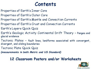 Earth's Geology Lesson - classroom unit, study guide, state exam prep