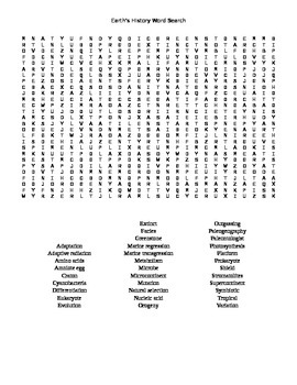 Earth's History Word Search