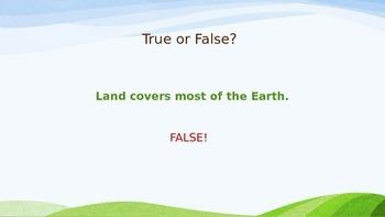Earth's Land True/False Powerpoint