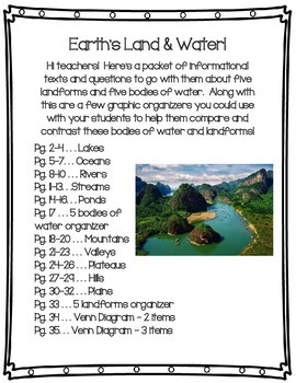 Earth's Land and Water Packet