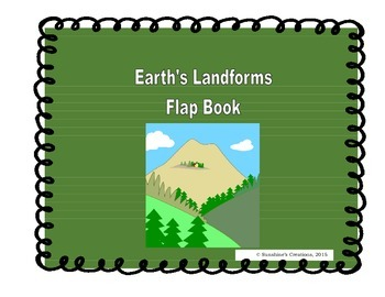 Earth's Landforms Flap Book and Writing