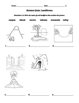 Earth's Landforms Quiz