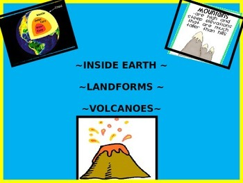Earth's Layers, Landforms, Volcano Powerpoint
