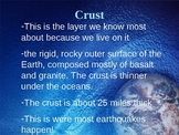 Earth's Layers & Weathering/Erosion