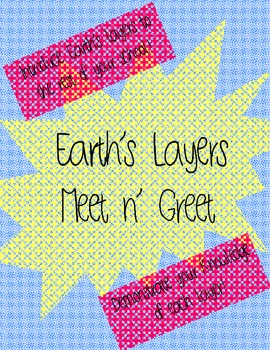"""Earth's Layers """"meet n' greet""""- introductory activity, eas"""