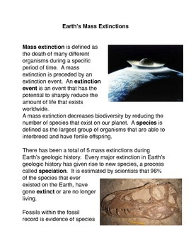 Earth's Mass Extinctions
