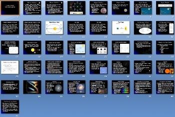 Earths Moon Solar System Smartboard Notebook Presentation Lesson Plan