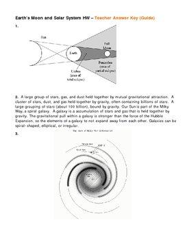 Earths Moon and Solar System Astronomy Homework
