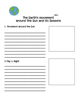 Earth's Movement Around the Sun and its Seasons