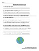 Earth's Movement- Notes and Quiz- 2nd, 3rd, 4th, 5th, 6th