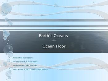 Earth's Oceans and Ocean Floor (Powerpoint)