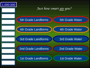 Earth's Physical Features PowerPoint game Landforms/Water