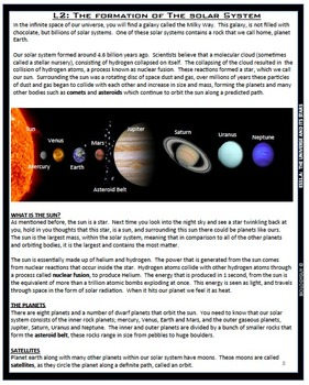 Earth's Place In The Solar System, Next Generation Science Standards