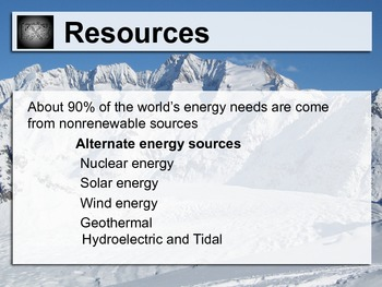 Earth's Resources Layered Lesson Plan