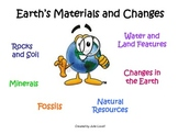Earth's Rocks, Minerals, Soil, Land and Water Features, Resources, and Changes