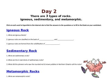 Earth's Rocks for Earth Science