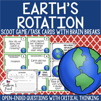 Earth's Rotation Scoot Game/Task Cards