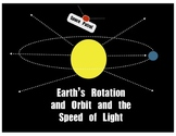 Earth's Rotation and Orbit and the Speed of Light