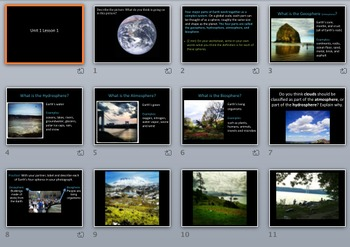 Worksheet and PPT: Earth's Spheres