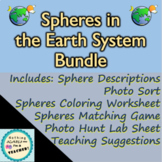 Earth Spheres Activities Lessons, Lab and Matching Game