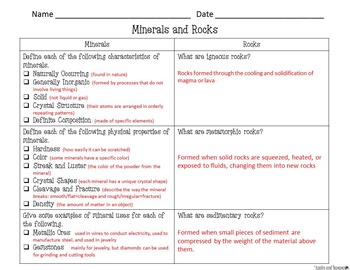 Earth's Structure - Earth Science Scaffolded Notes and INB Activities
