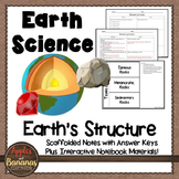 Earth's Structure - Earth Science Scaffolded Notes and INB
