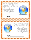 Earth's Surface Features Booklet