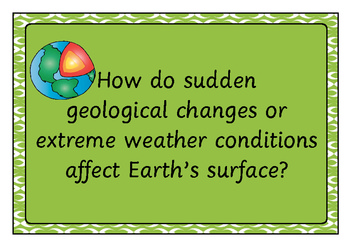 Earth's Surface and Disasters Word Bank