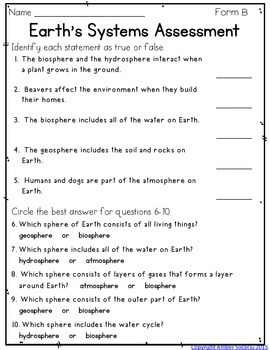 Earth's Systems Assessment